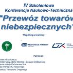 """Alfa Forwarding partnerem Konferencji Naukowo – Technicznej """"Przewóz Towarów Niebezpiecznych"""""""